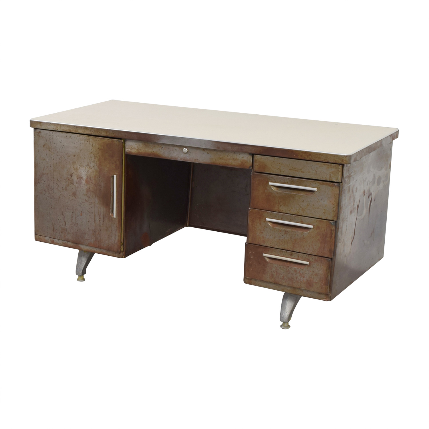 84% OFF - Shaw Walker Shaw Walker Rustic Metal Desk / Tables