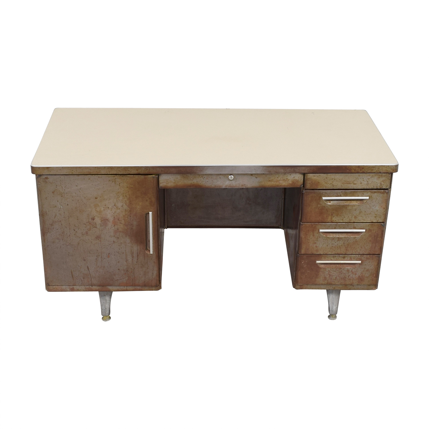 Shaw Walker Shaw Walker Rustic Metal Desk second hand
