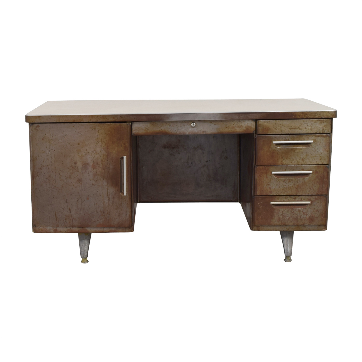 Shaw Walker Shaw Walker Rustic Metal Desk for sale