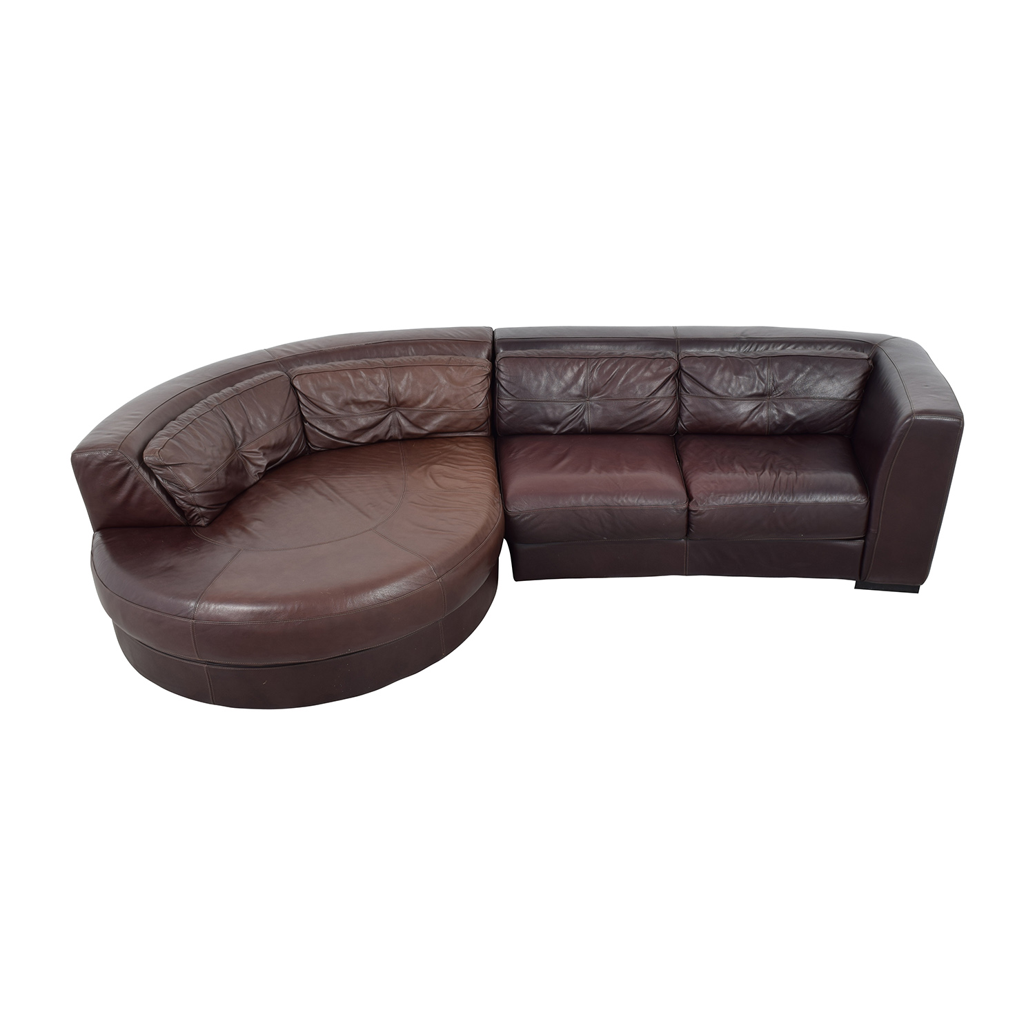 Chateau D'Ax Chateau D'Ax Leather Sectional with Curved Chaise second hand