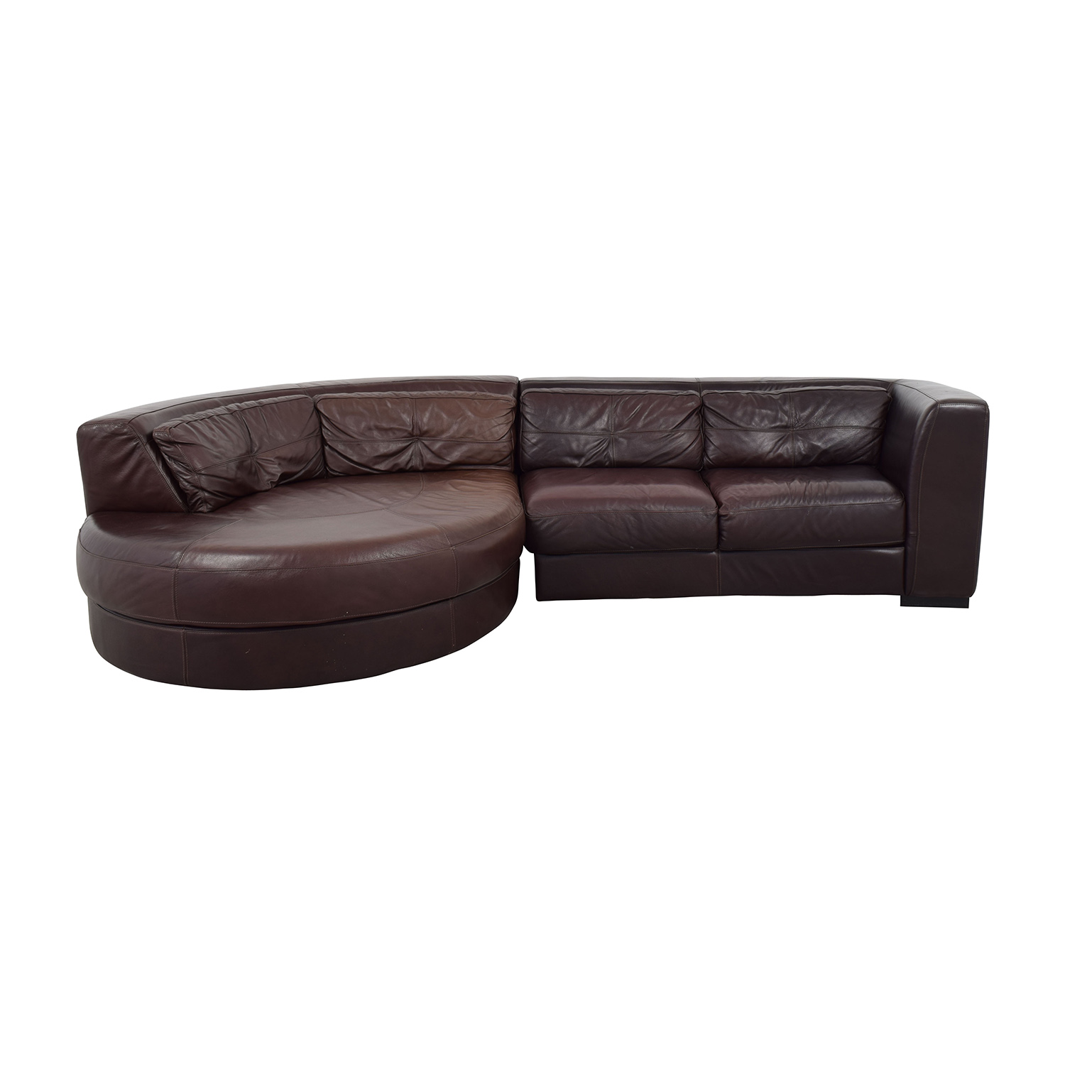 Chateau D'Ax Chateau D'Ax Leather Sectional with Curved Chaise nyc