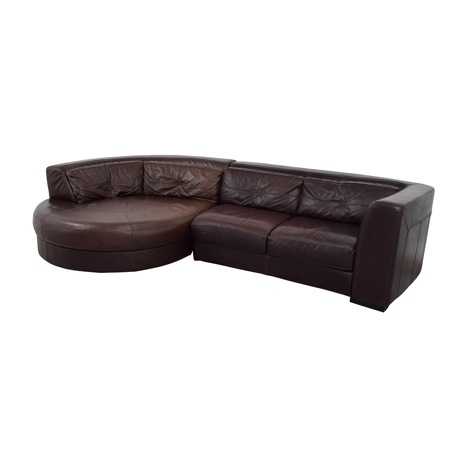 Sensational 70 Off Chateau Dax Chateau Dax Leather Sectional With Curved Chaise Sofas Caraccident5 Cool Chair Designs And Ideas Caraccident5Info