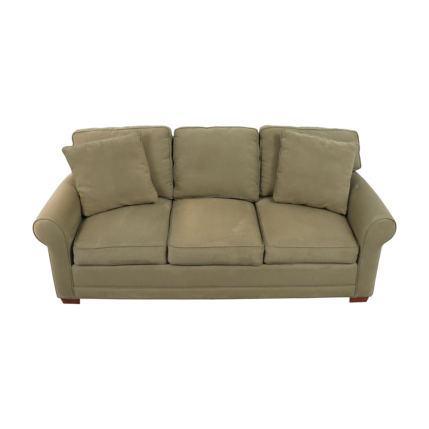 Raymour & Flanigan Raymour & Flanigan Beige Three-Cushion Couch dimensions