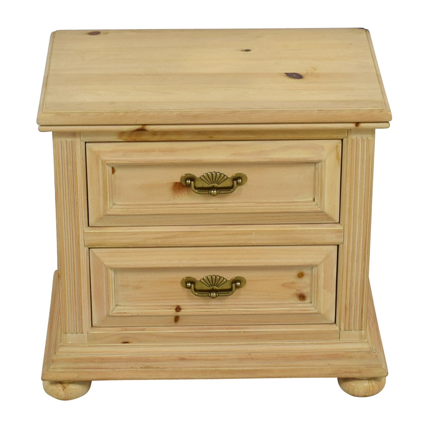 shop Link Taylor Natural Wood Two-Drawer Night Stand Link Taylor Tables