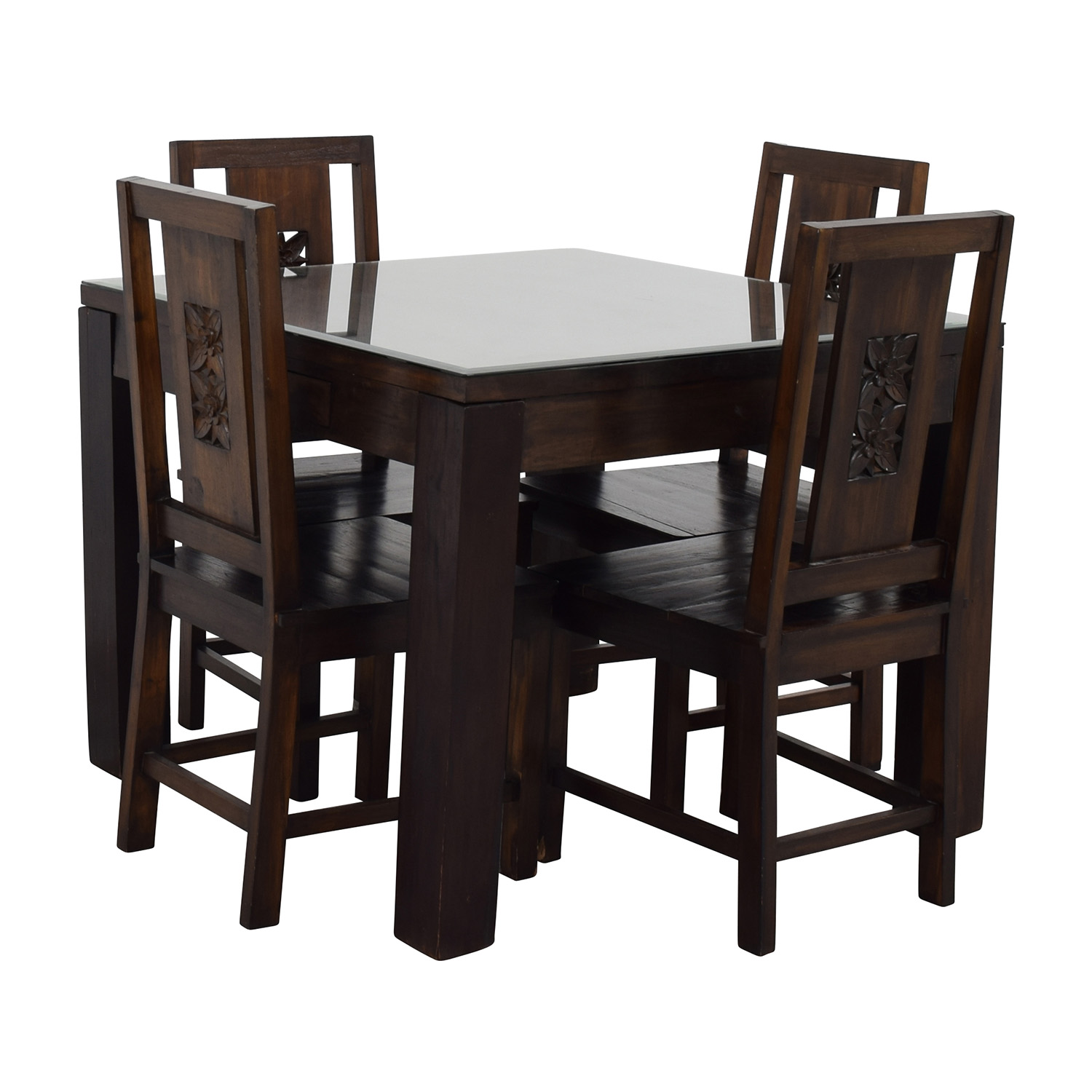 90 off balinese teak dining table set tables. Black Bedroom Furniture Sets. Home Design Ideas