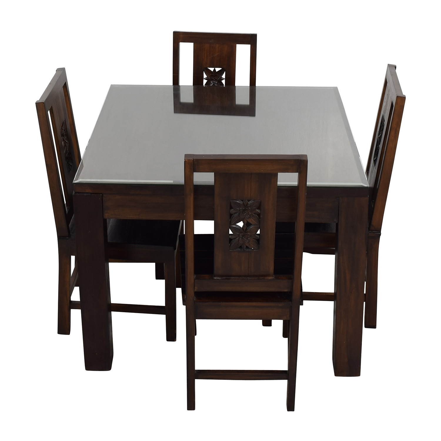 Balinese Teak Dining Table Set dimensions