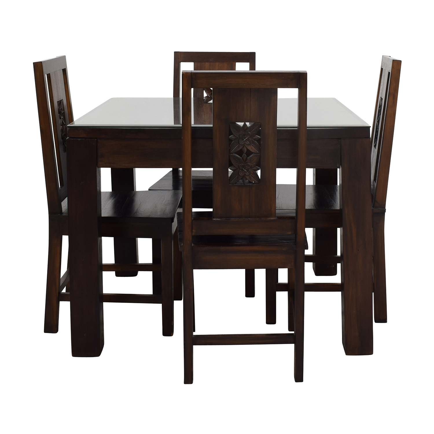 Balinese Teak Dining Table Set Dining Sets