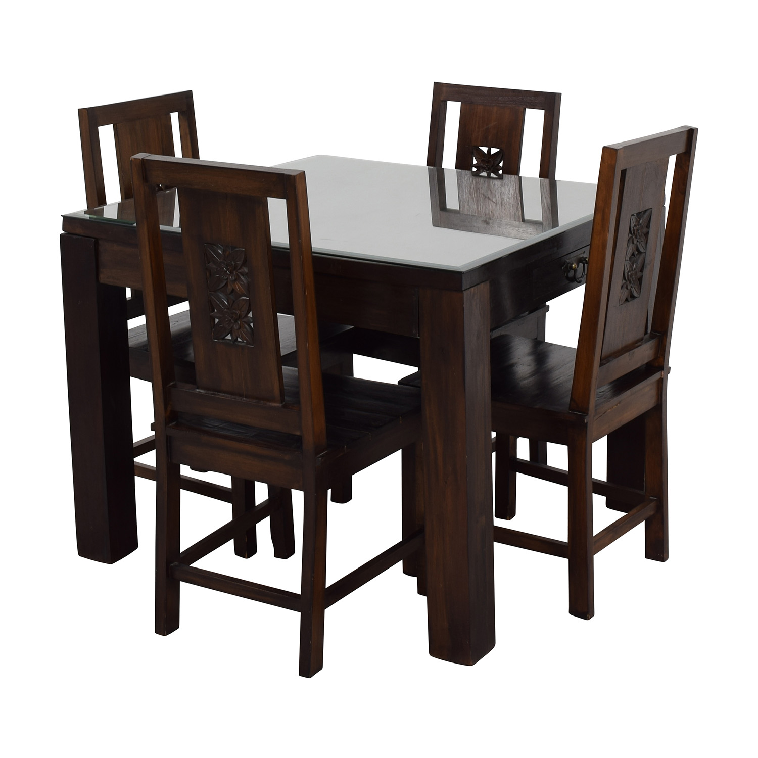 90 off balinese teak dining table set tables for Furniture 90 off