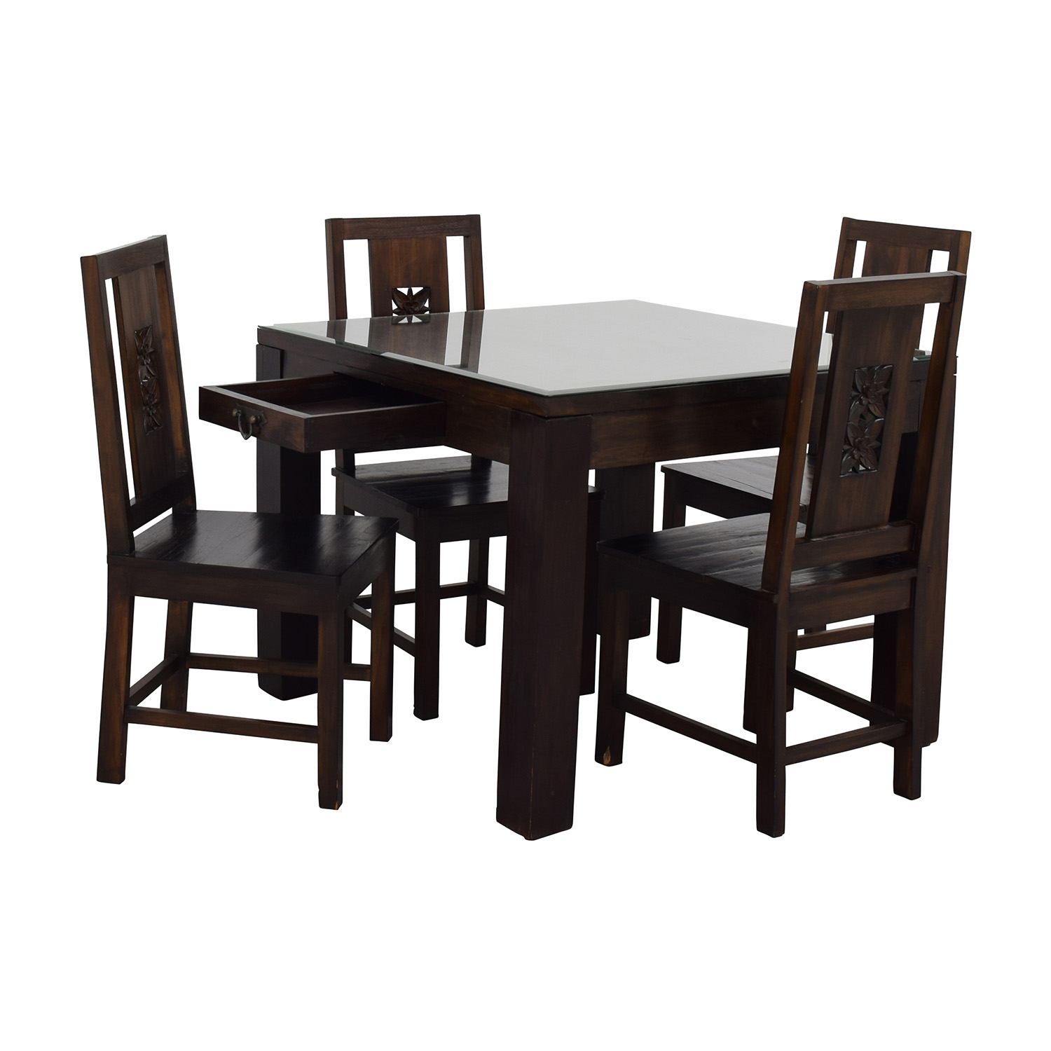 90 Off Balinese Teak Dining Table Set Tables