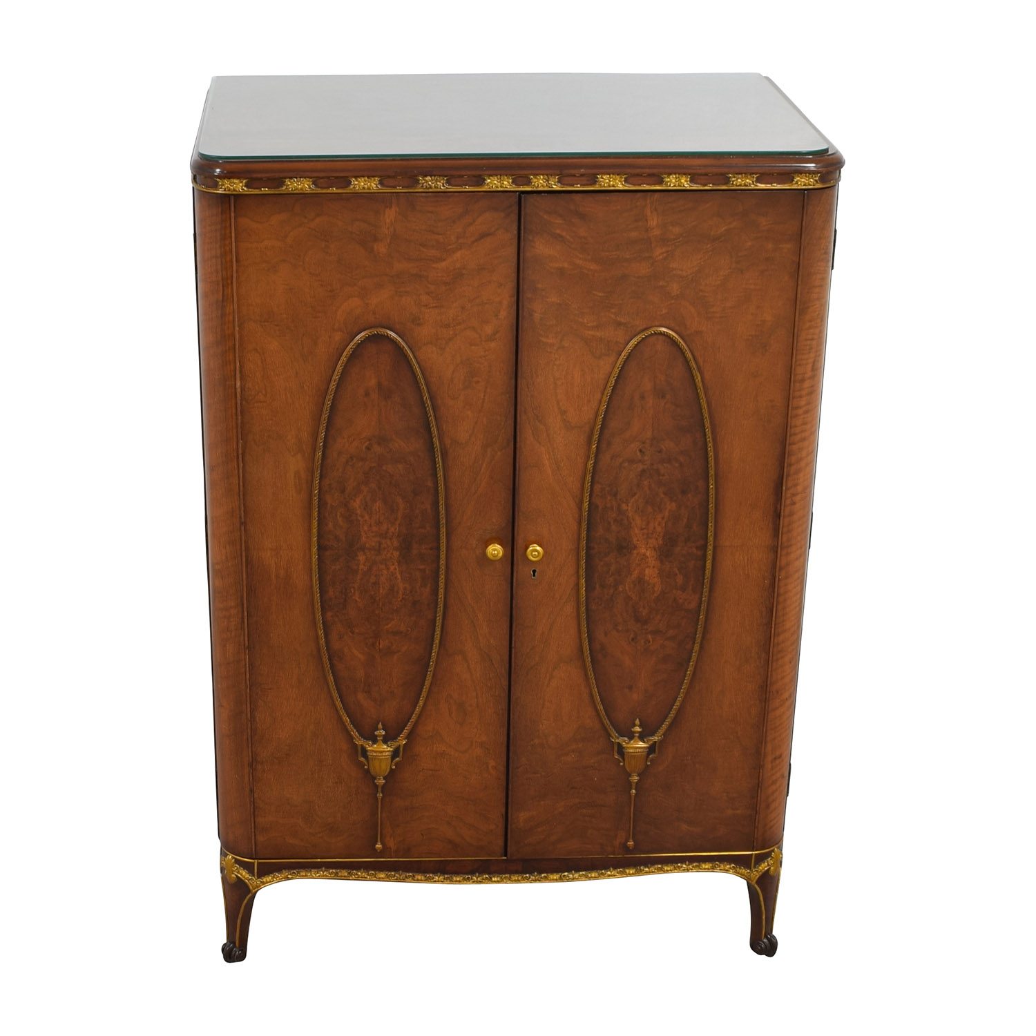 Antique Wardrobe with Gold Trim price