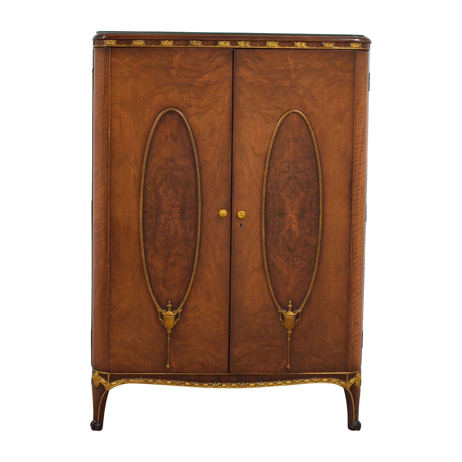 Antique Wardrobe with Gold Trim sale ... - 71% OFF - Antique Wardrobe With Gold Trim / Storage