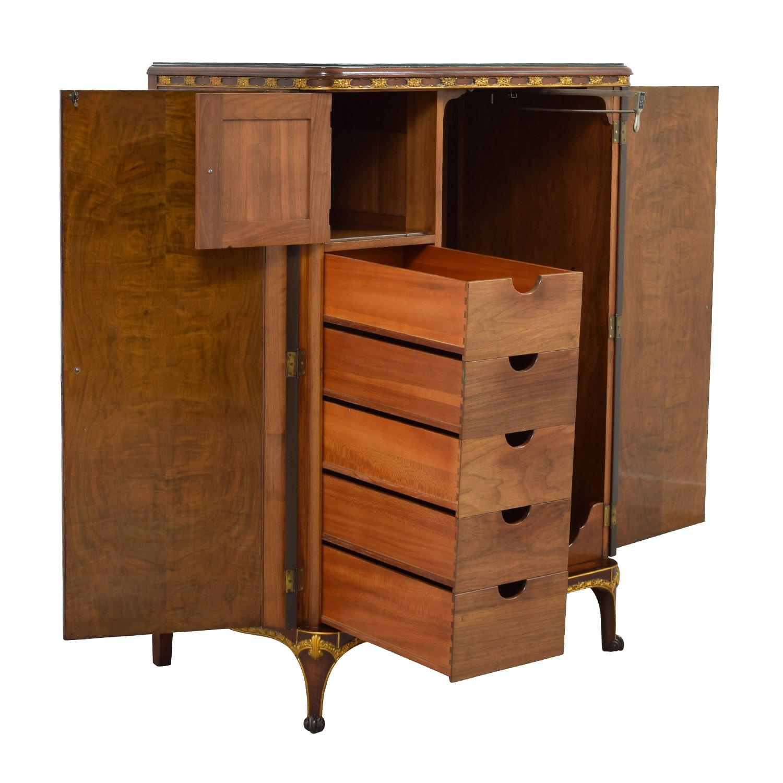 71 Off Antique Wardrobe With Gold Trim Storage