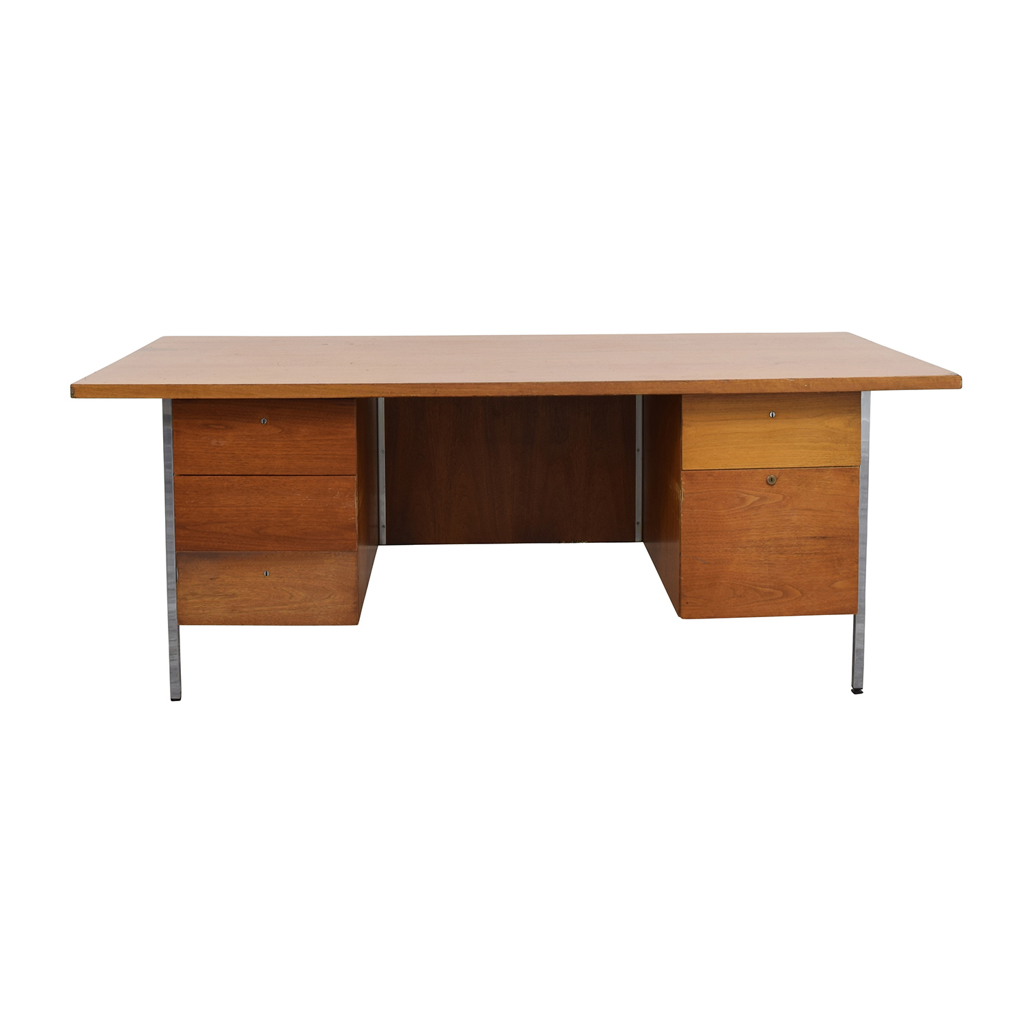 Wood Office Five-Drawer Desk discount