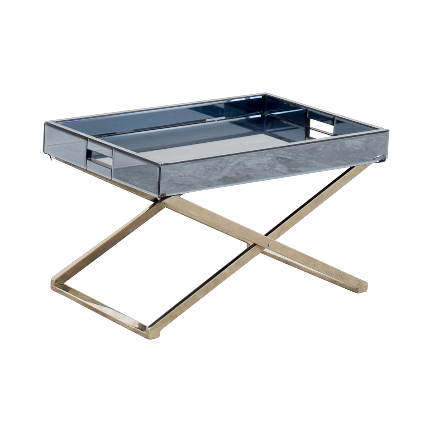 Mirrored Tray For Coffee Table: West Elm West Elm Butler Stand & Mirrored Tray