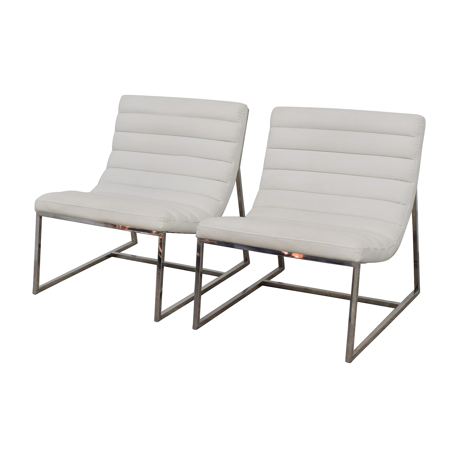 White Leather Sofa And Chair: White Leather Sofa Chairs / Chairs
