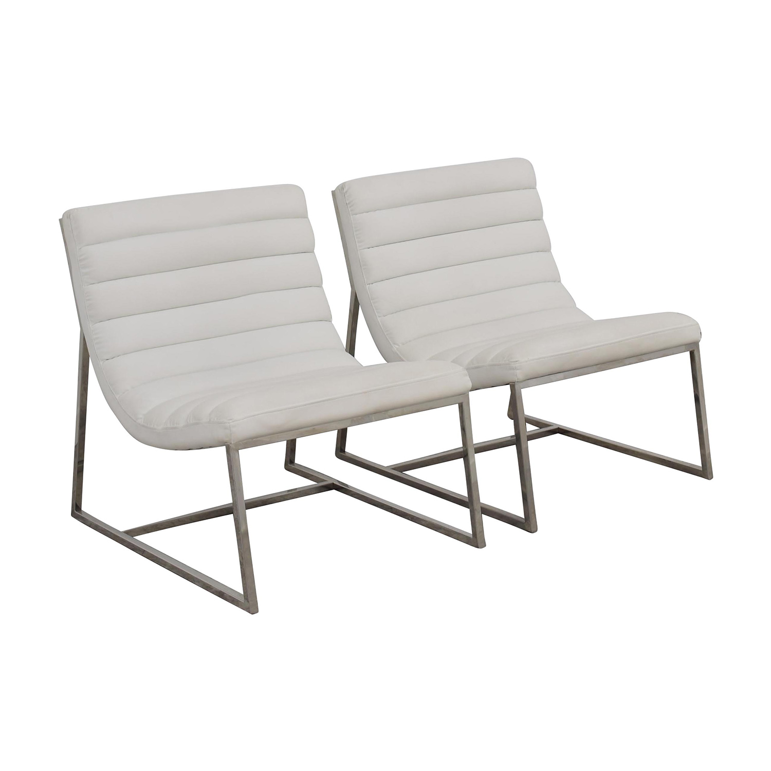 White Leather Sofa Chairs Second Hand