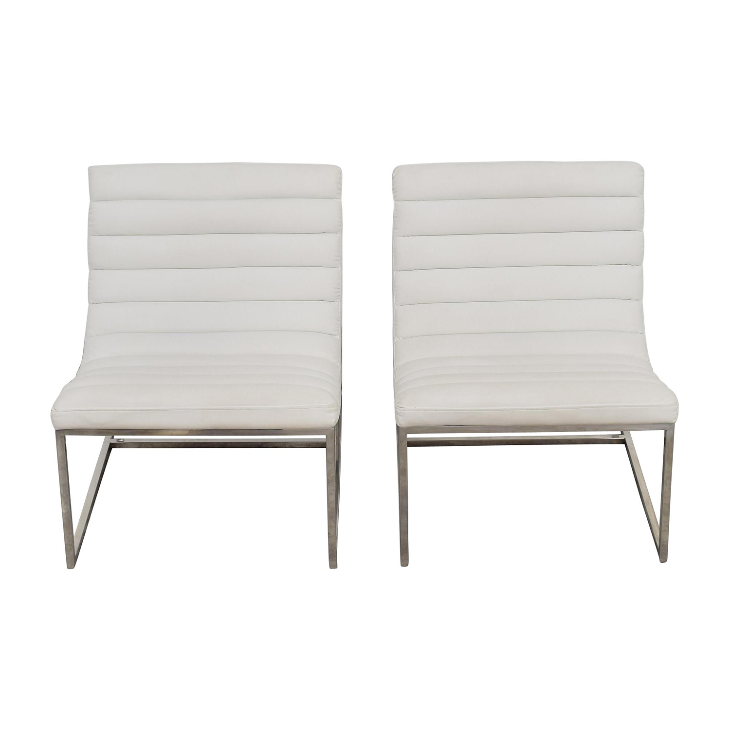 White Leather Sofa Chairs price
