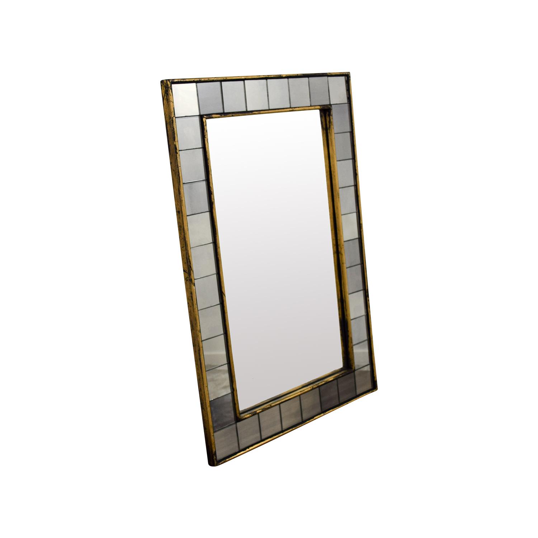 West Elm West Elm Antique Tiled Wall Mirror discount