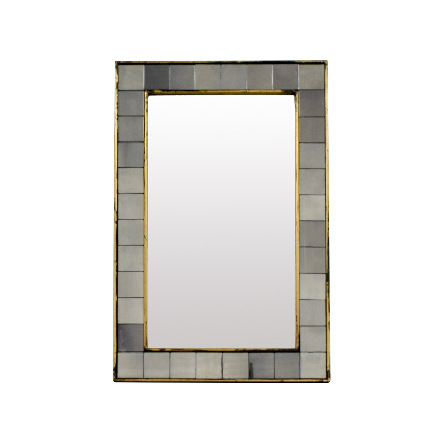 buy West Elm Antique Tiled Wall Mirror West Elm