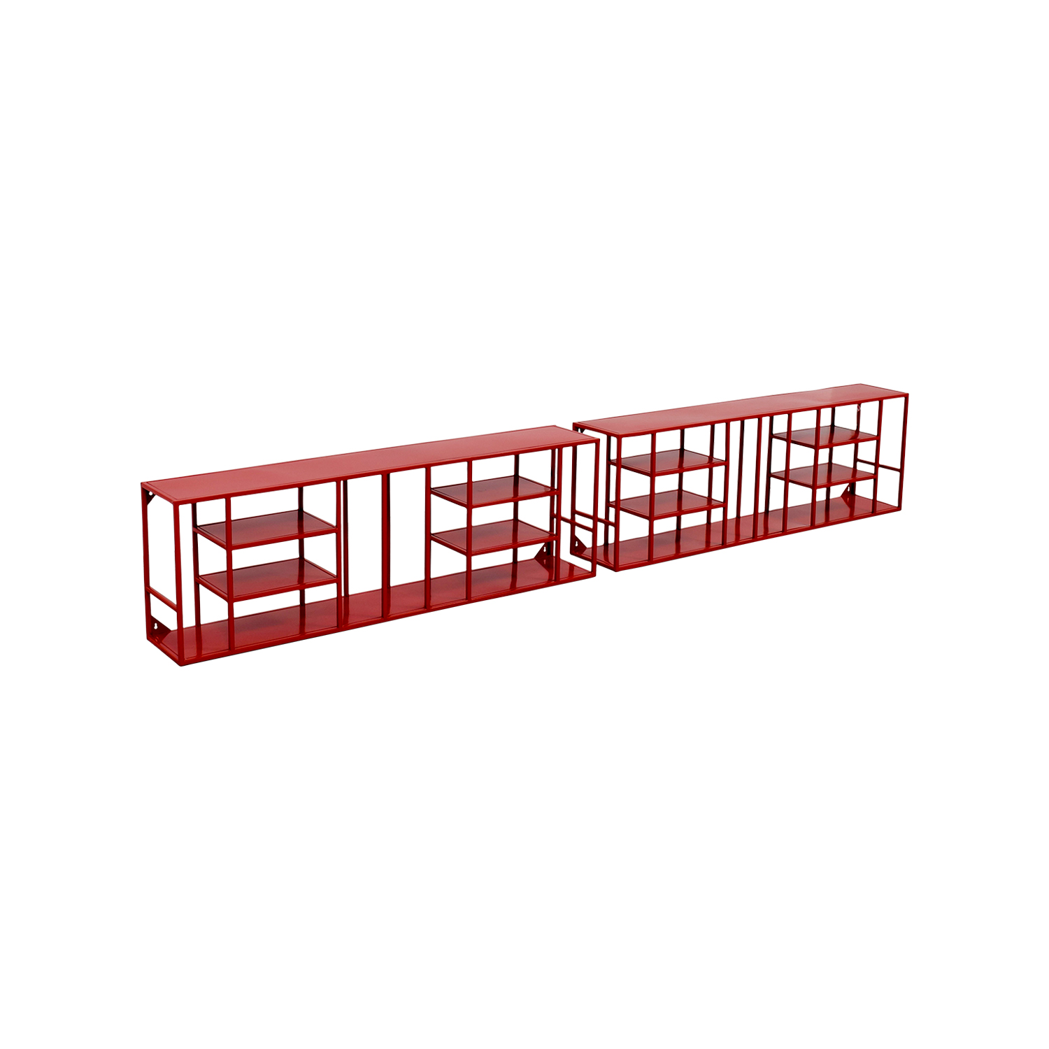 Stupendous 56 Off Cb2 Cb2 Red Metal Bookshelves Storage Interior Design Ideas Clesiryabchikinfo