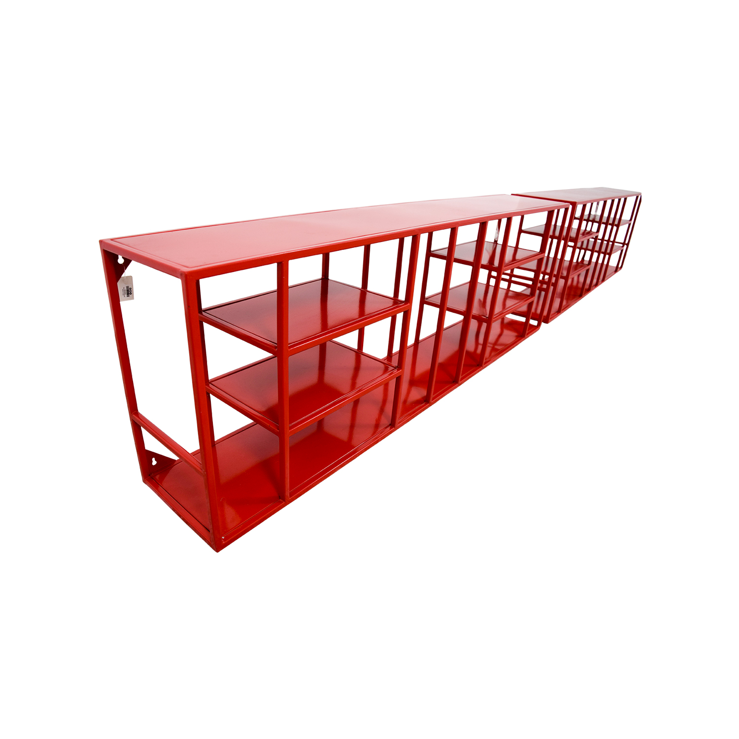 Miraculous 56 Off Cb2 Cb2 Red Metal Bookshelves Storage Interior Design Ideas Clesiryabchikinfo