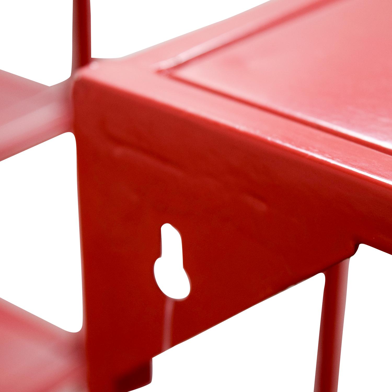 Awe Inspiring 56 Off Cb2 Cb2 Red Metal Bookshelves Storage Interior Design Ideas Clesiryabchikinfo
