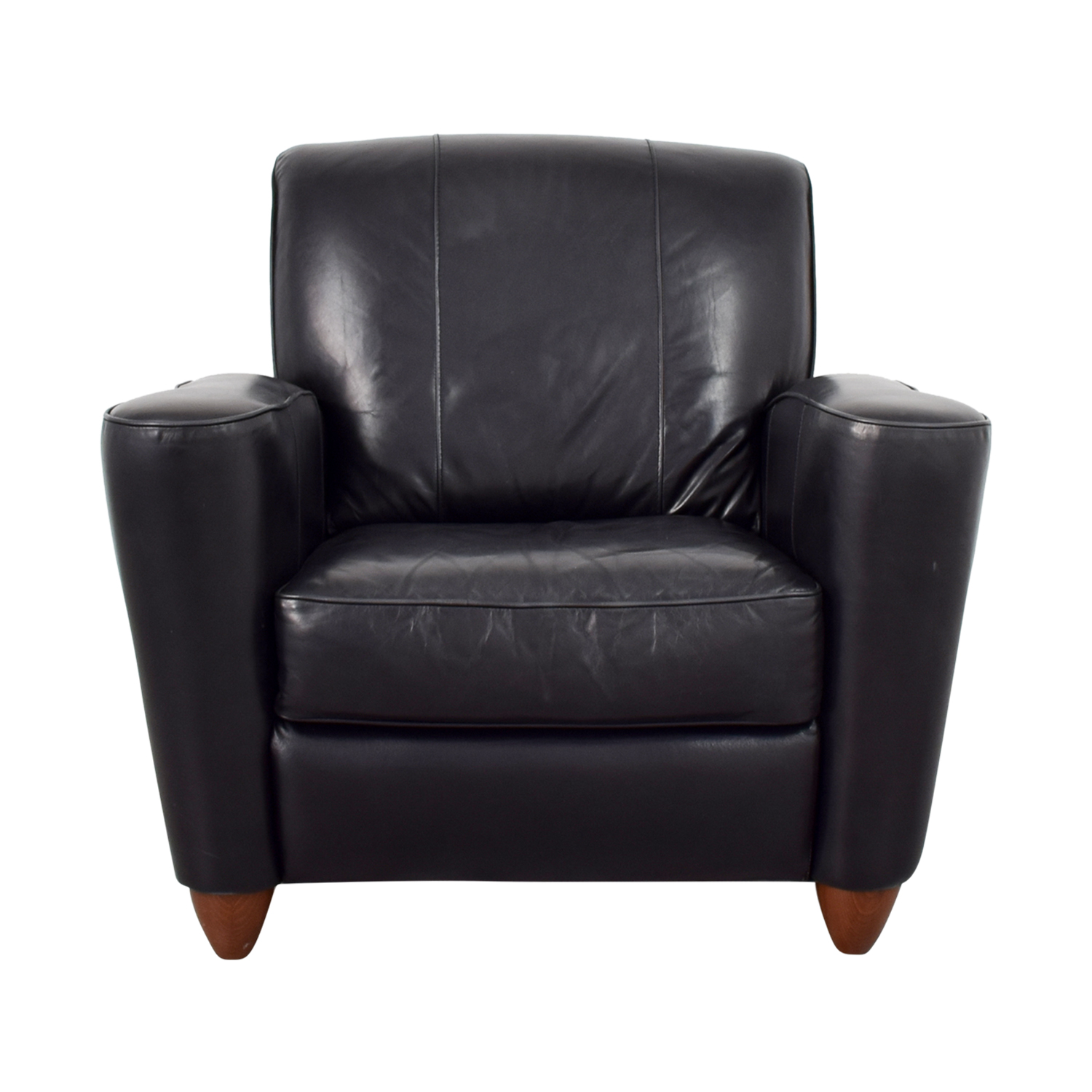 Leather Library Reading Chair For