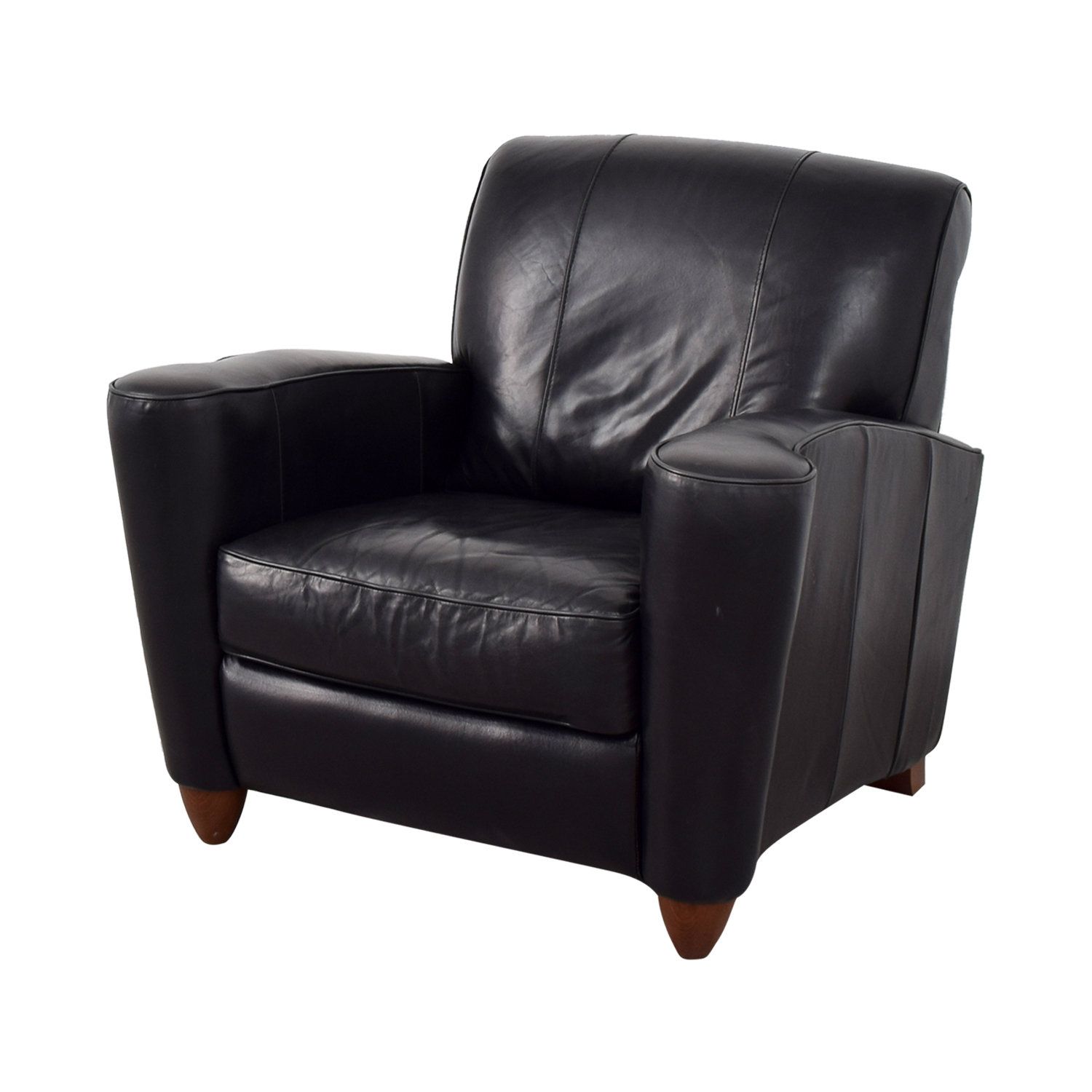 76 off leather library reading chair chairs. Black Bedroom Furniture Sets. Home Design Ideas