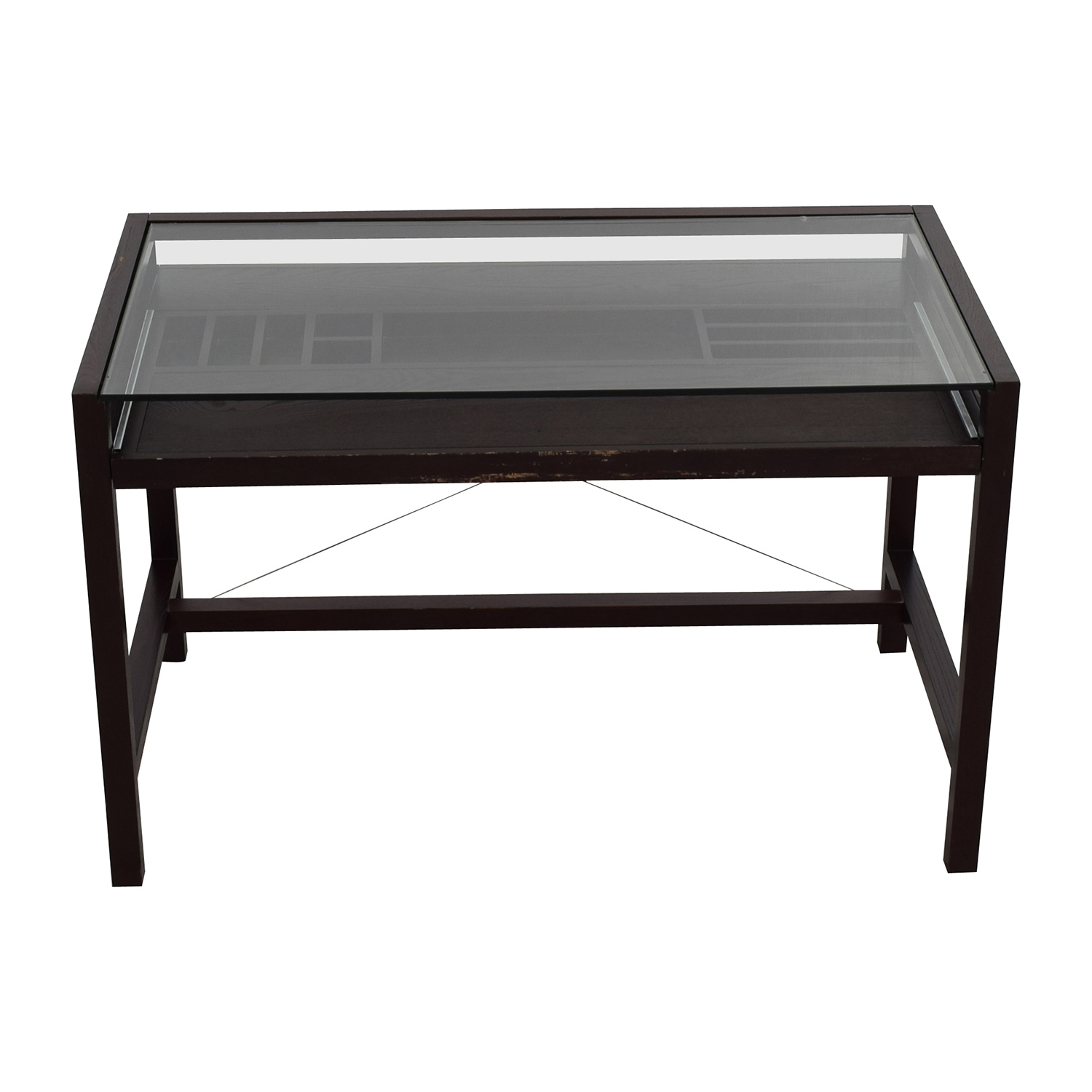 ... Buy Crate U0026 Barrel Glass And Wood Walker Desk Crate And Barrel Tables  ...
