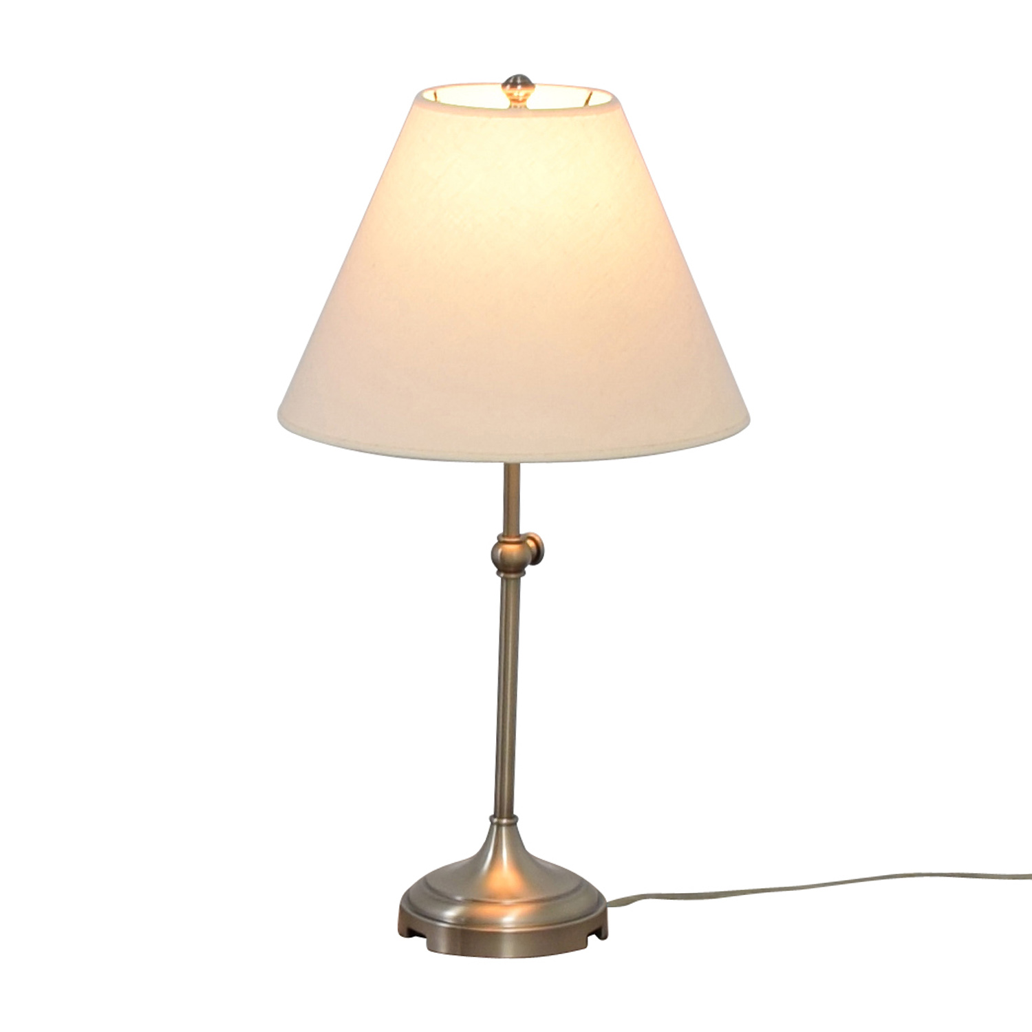 Pottery Barn Phoenix Lamp: Pottery Barn Pottery Barn Chrome Lamp / Decor
