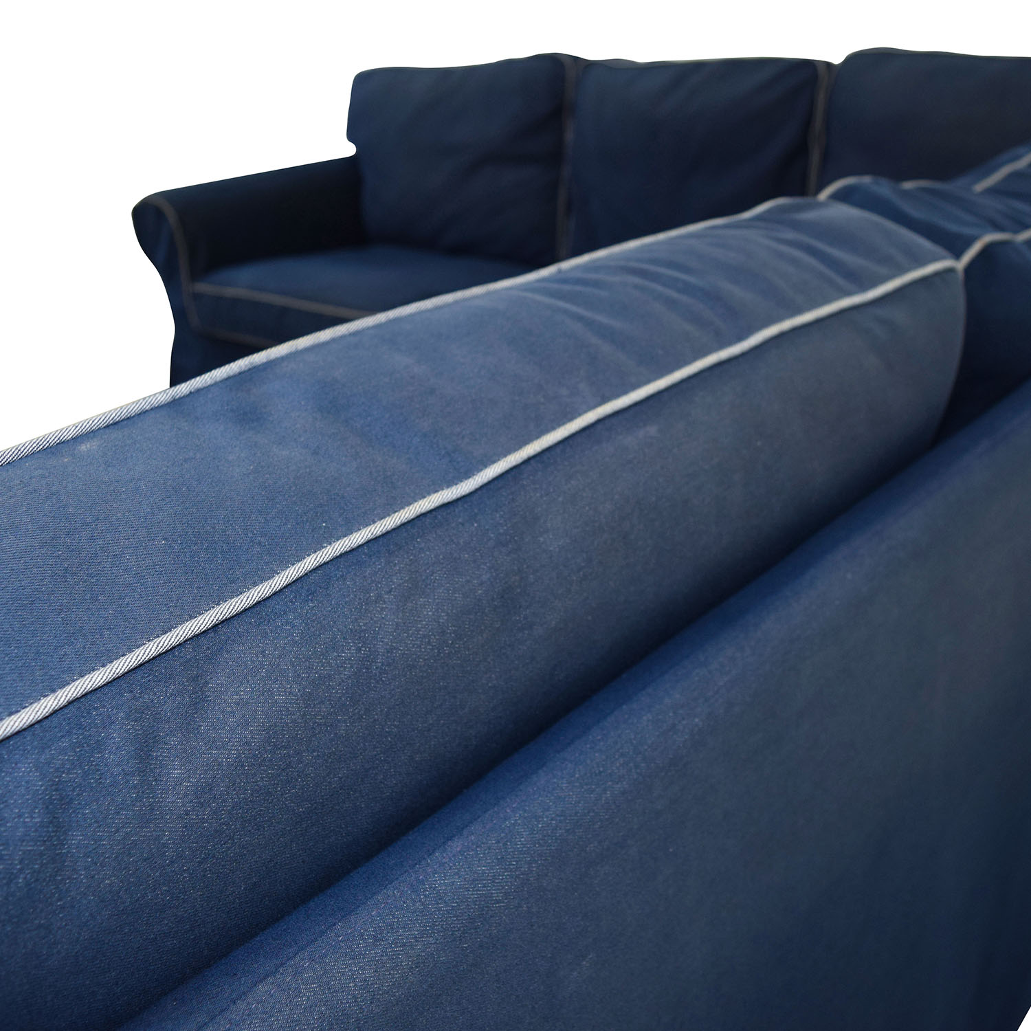 43 Off Ikea Ikea Ektorp Navy Blue Skirted Sectional Sofas