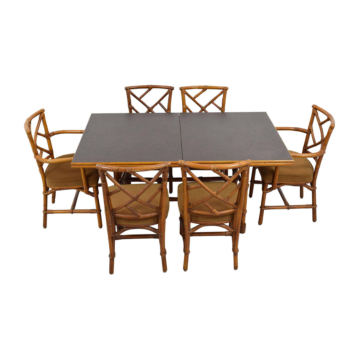 buy Bamboo Dining Set with Six Chairs Dining Sets