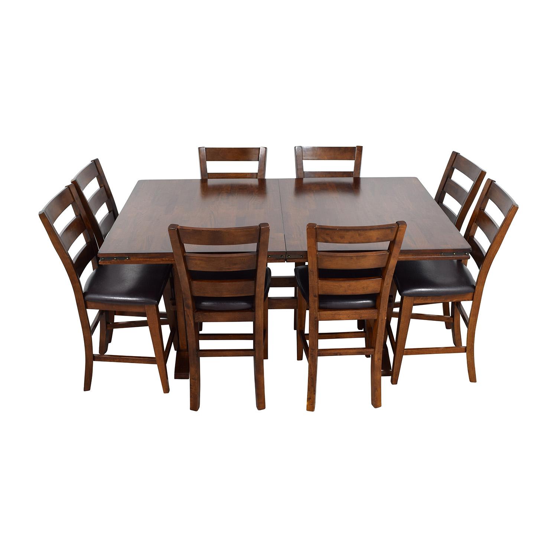 59 Off Bob S Discount Furniture Bob S Furniture Enormous Counter Pub Table Set Tables