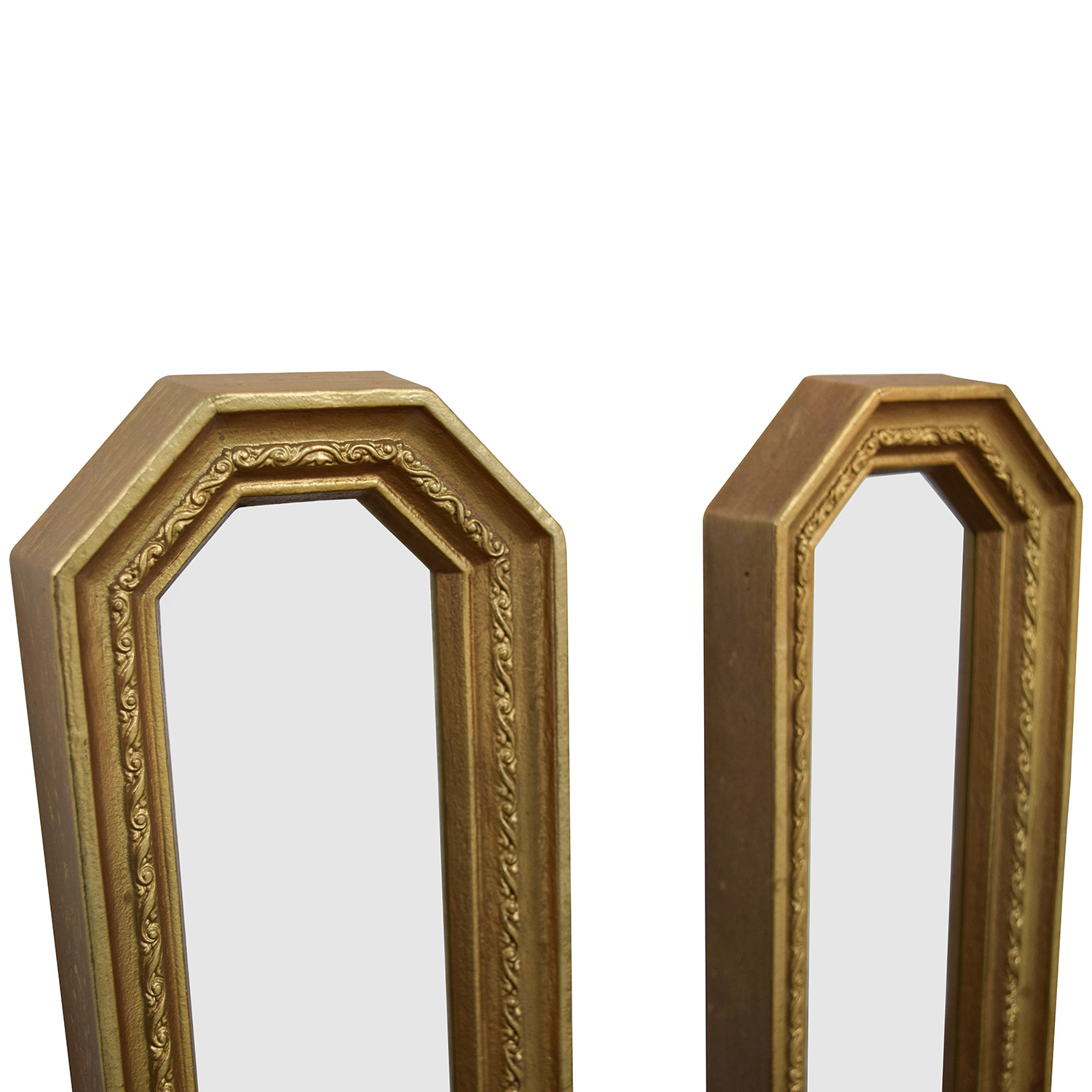 Gold Frame Oblong Mirrors Decor