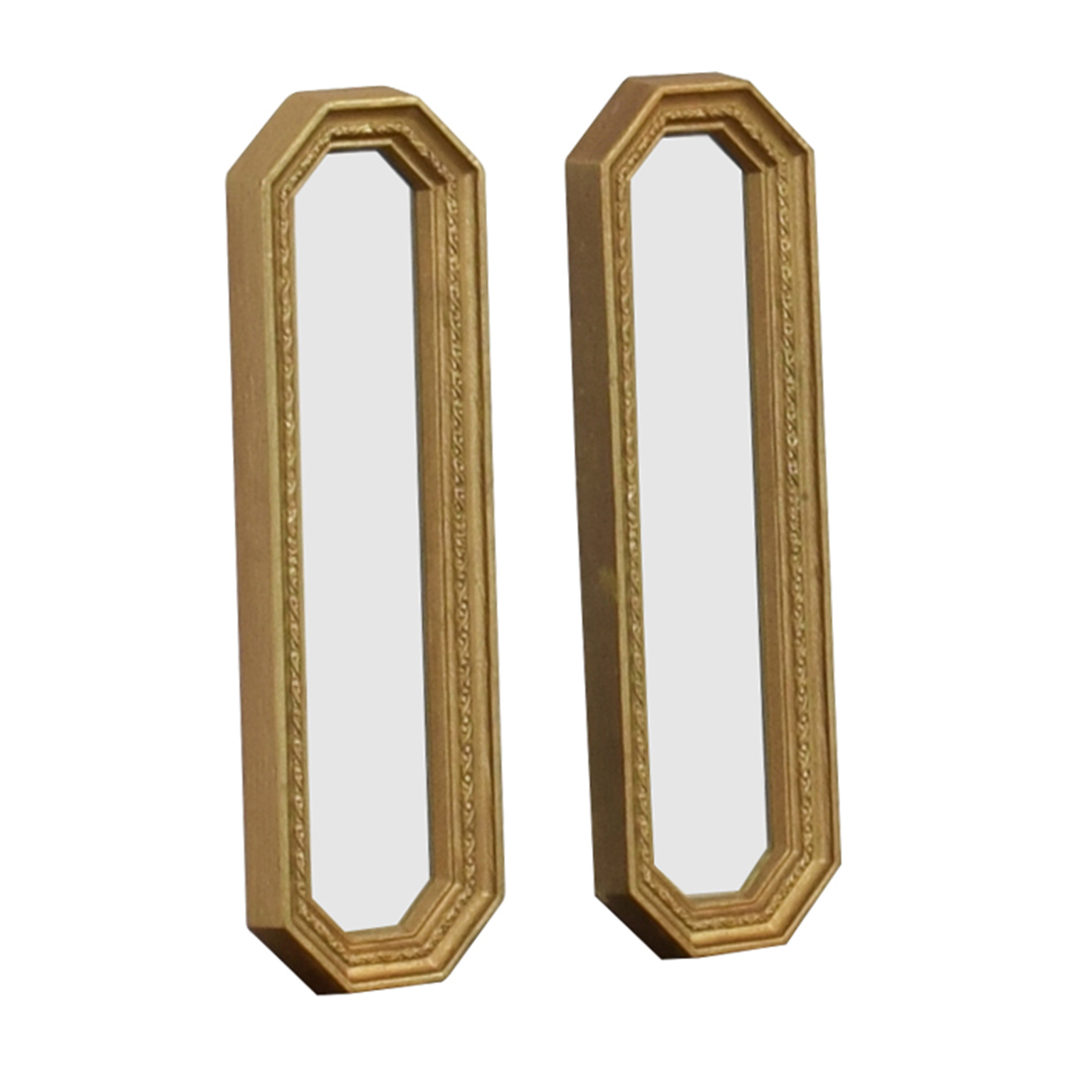 Gold Frame Oblong Mirrors for sale