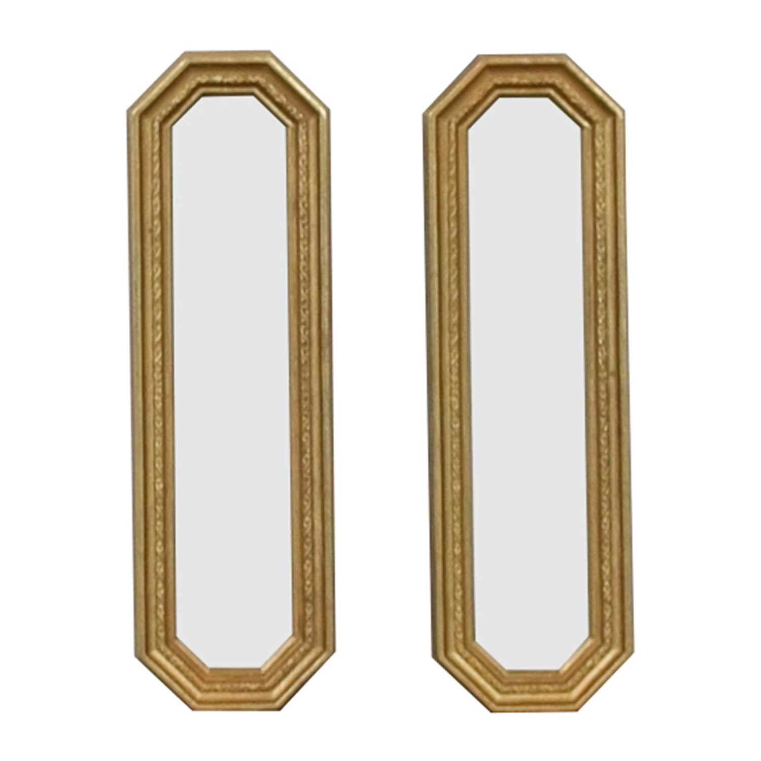 Gold Frame Oblong Mirrors / Mirrors