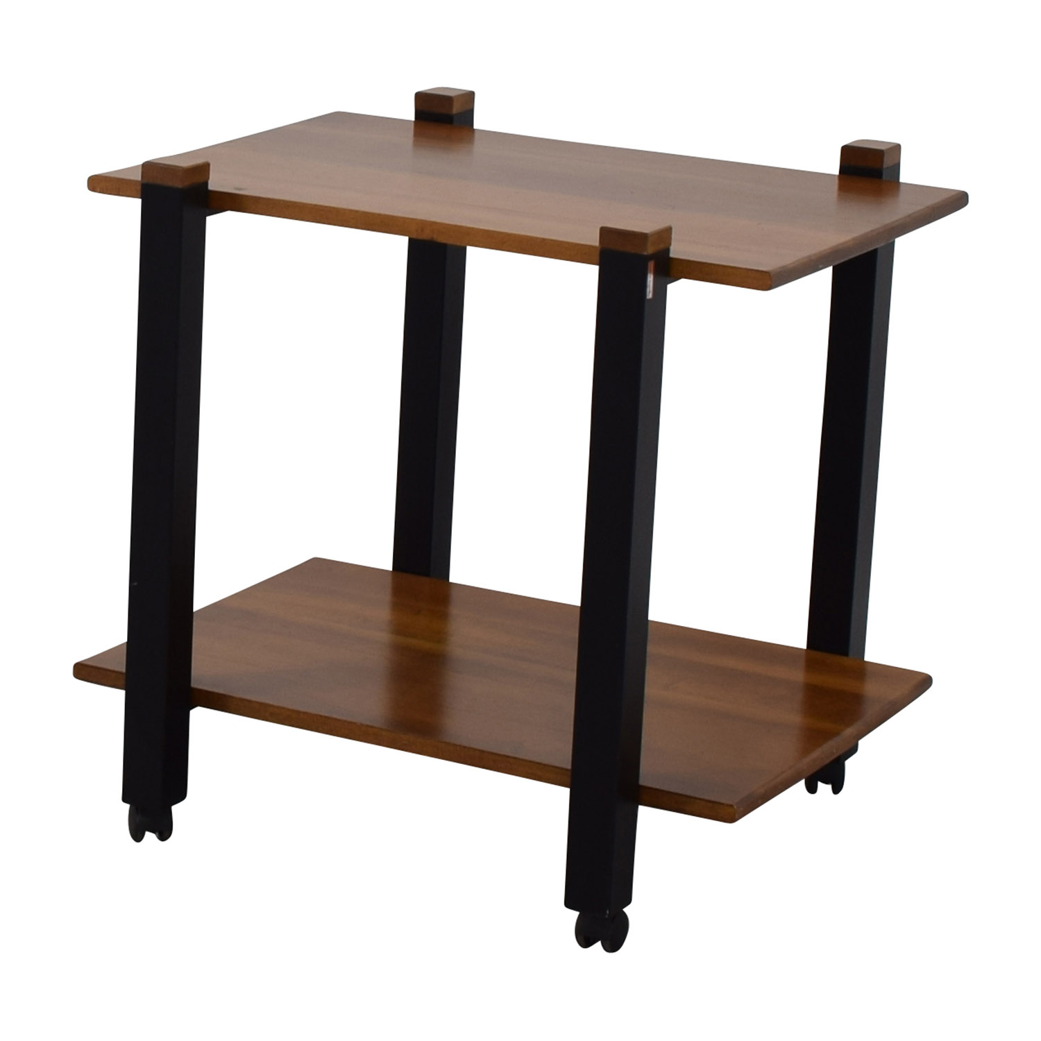 82 Off Pottery Barn Pottery Barn Rolling Stand Storage
