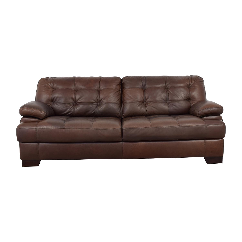 64% OFF - Simmon Li Simmon Li Monarch Dark Brown Sofa / Sofas