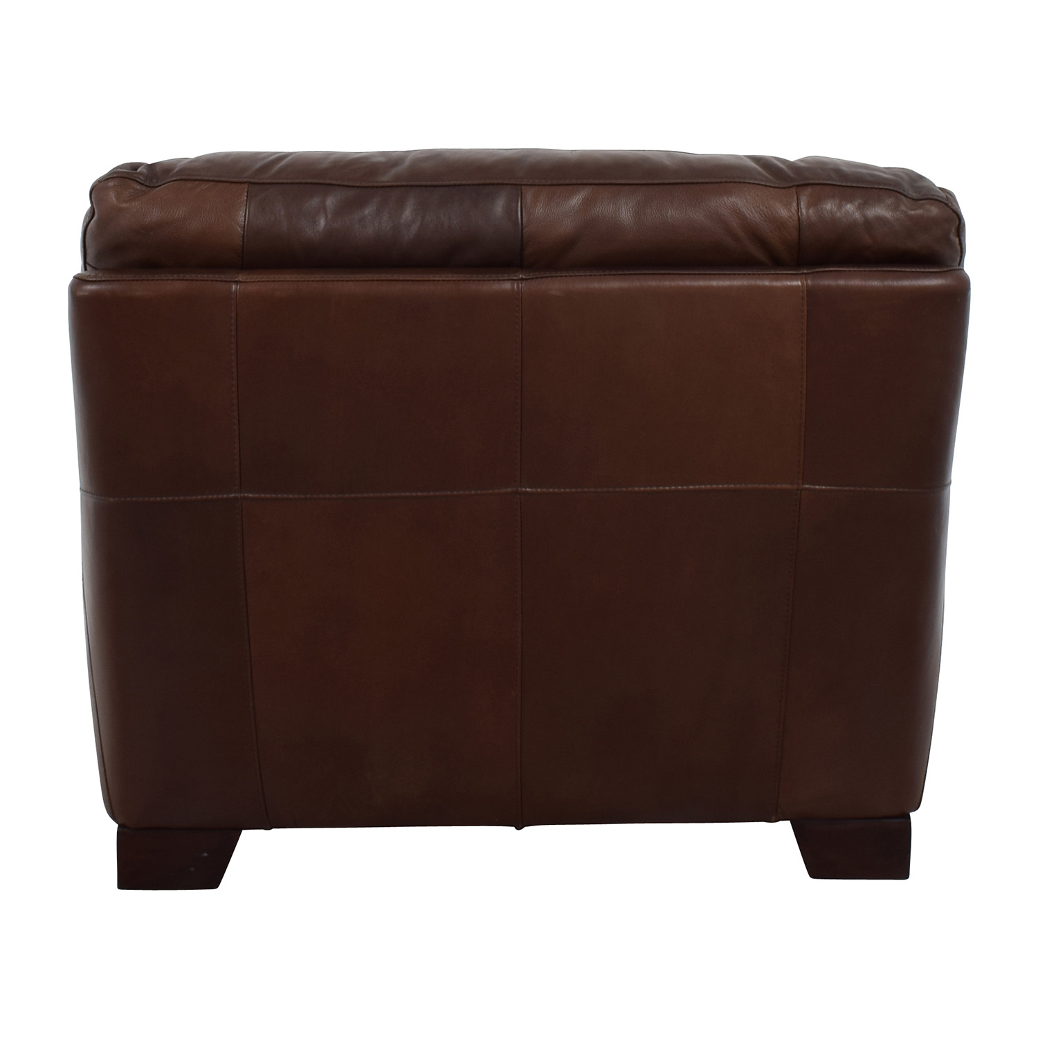 shop Simmon Li Simmon Li Monarch Dark Brown Leather Chair online