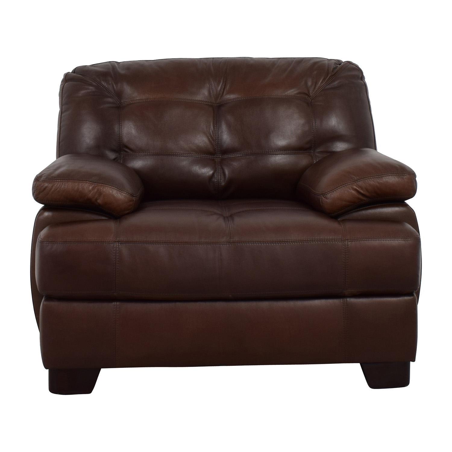 Simmon Li Simmon Li Monarch Dark Brown Leather Chair Accent Chairs ...