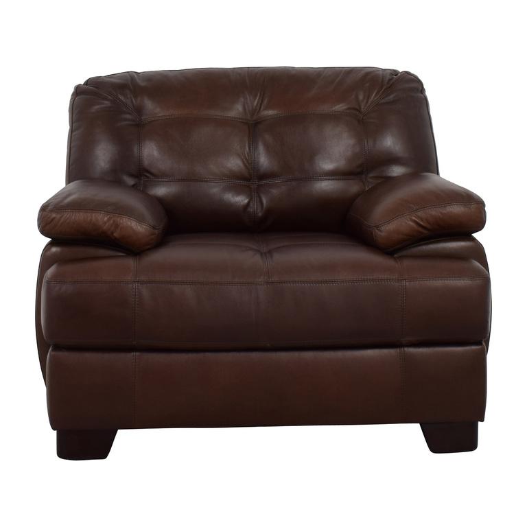 Simmon Li Monarch Dark Brown Leather Chair Simmon Li