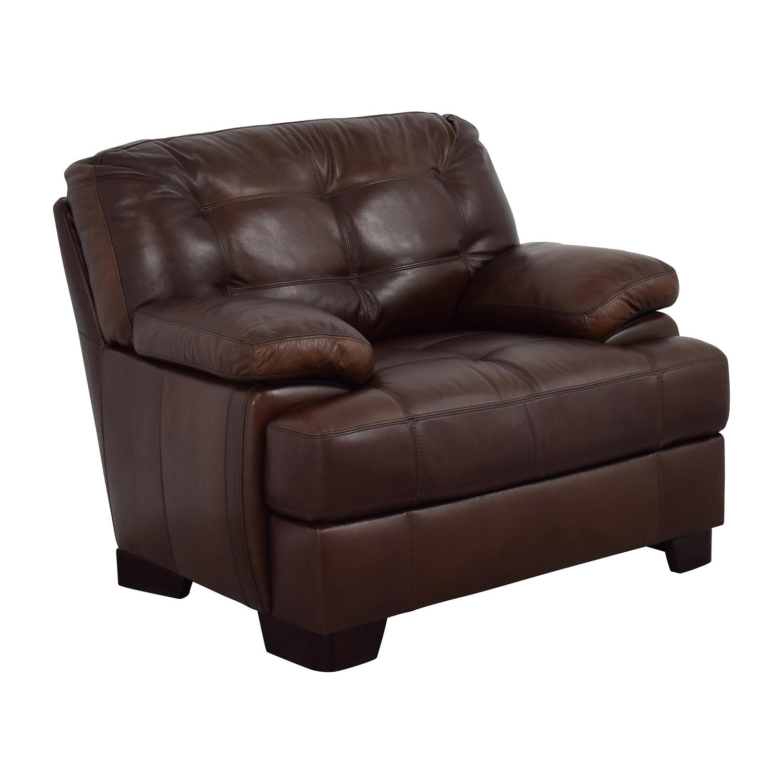 ... Simmon Li Simmon Li Monarch Dark Brown Leather Chair ...