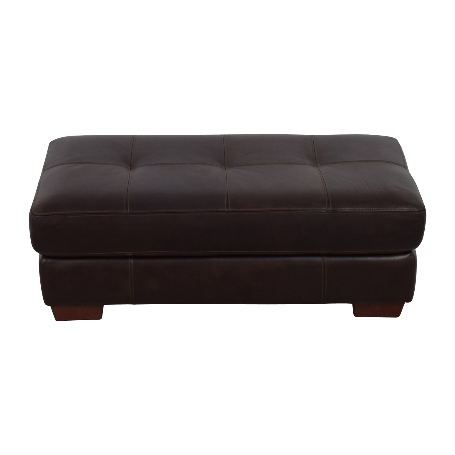 Chateau Dax Phoenix Cocktail Dark Brown Leather Ottoman Chateau Dax