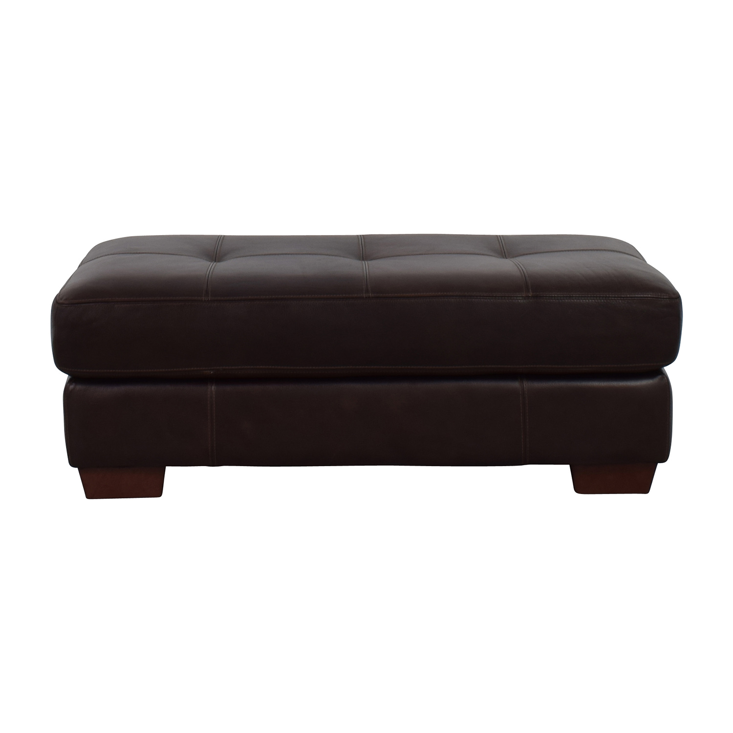 Chateau Dax Chateau Dax Phoenix Cocktail Dark Brown Leather Ottoman coupon