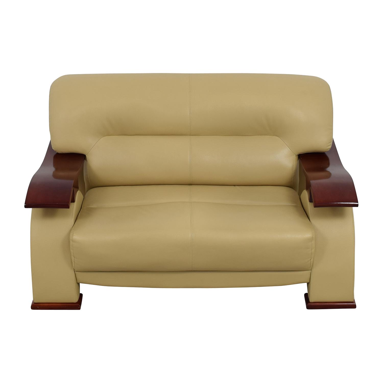 buy Dream World Furniture Cappuccino Bonded Leather Loveseat Dream World Furniture