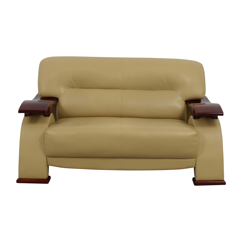buy Dream World Furniture Cappuccino Bonded Leather Loveseat Dream World Furniture Loveseats