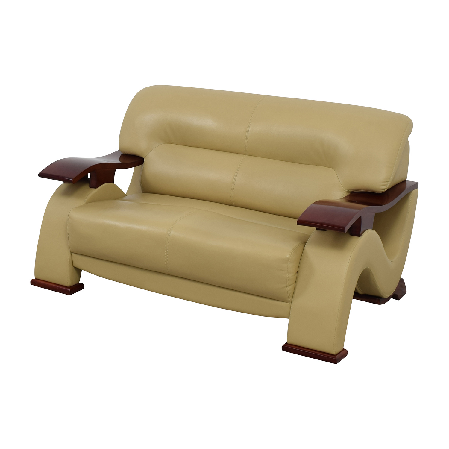 90 Off Dream World Furniture Dream World Furniture Cappuccino Bonded Leather Loveseat Sofas