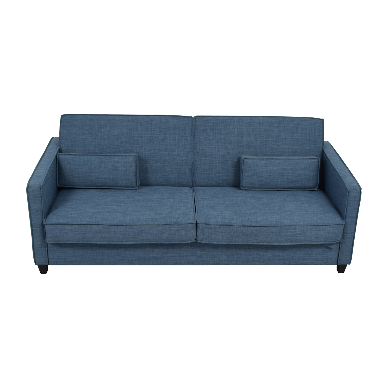 34% OFF - Blue Sofa with Two Throw Lumbar Pillows / Sofas