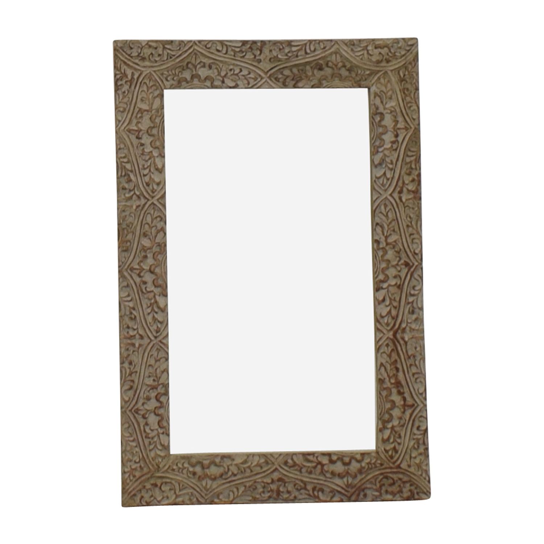 Wayfair Fleur Gray Carved Mirror / Decor