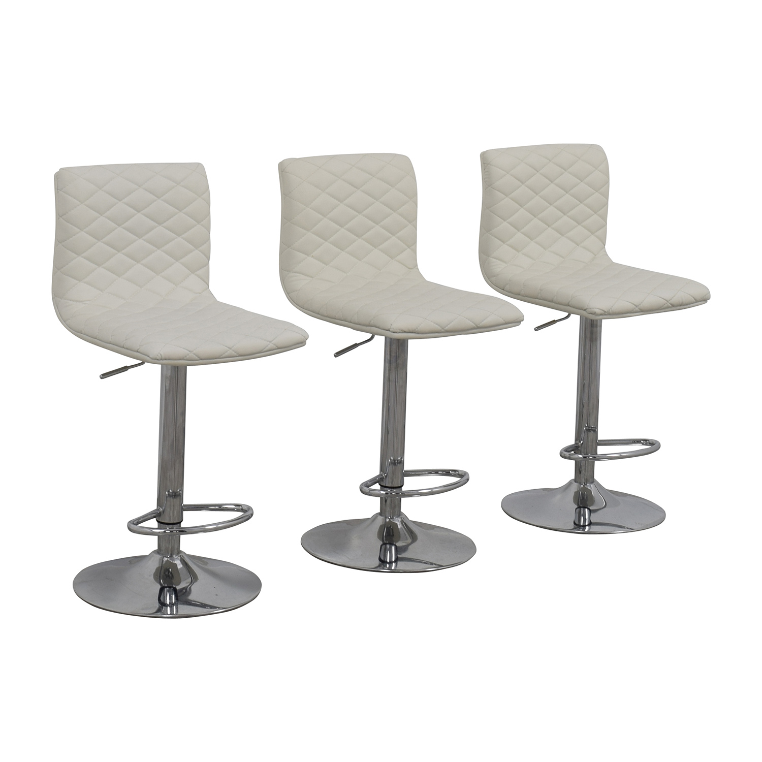 Merveilleux ... Buy White Quilted Bar Stool Chairs Online ...